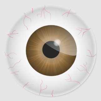 Brown Bloodshot Eyeball Sticker