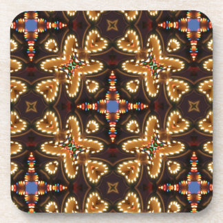 Brown,Blue, And Black Abstract Products Coaster