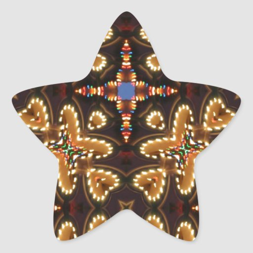 Brown,Blue, And Black Abstract Products Star Sticker