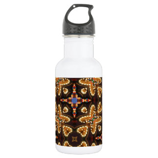 Brown,Blue, And Black Abstract Water Bottle