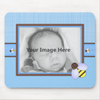 Brown & Blue Baby Boy Template Mouse Pad