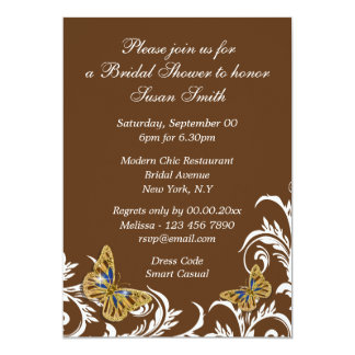 Brown blue butterfly PERSONALIZE Card