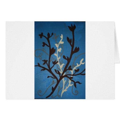Brown & Blue Flowers Card