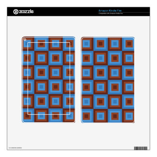 Brown Blue Geometric Patterns Decals For Kindle Fire