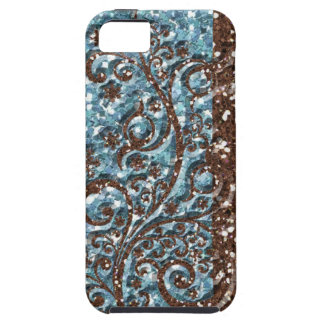 Brown Blue Glittery Sparkle iPhone 5 Covers