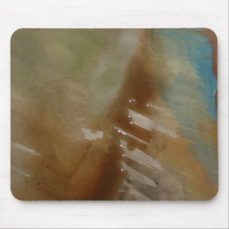 Brown Blue Modern Abstract Mouse Pad