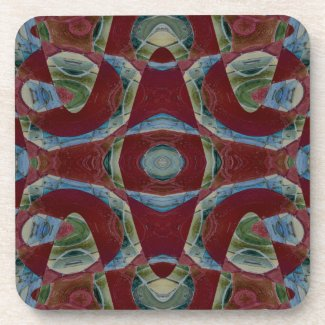 Brown Blue Mosaic corkcoaster
