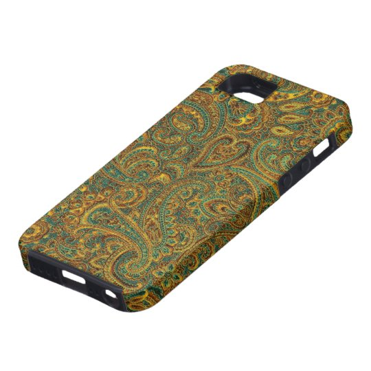 Brown& Blue Ornate Floral Paisley Pattern iPhone SE/5/5s Case