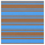 [ Thumbnail: Brown & Blue Pattern Fabric ]