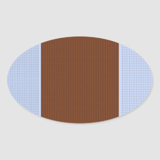 Brown, Blue , Pink & Black - Dots & Patterns Oval Sticker