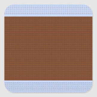 Brown, Blue , Pink & Black - Dots & Patterns Square Sticker