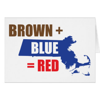 Brown + Blue = Red Card