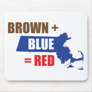 Brown + Blue = Red Mouse Pad