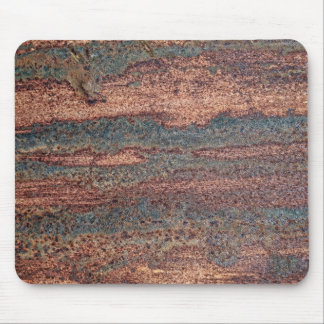 Brown & Blue Rusted Metal Pattern Mouse Pad