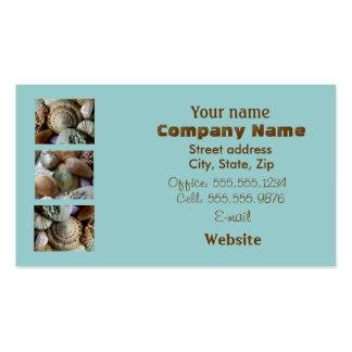 Brown & Blue Seashell Business Card