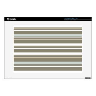 Brown & Blue Striped Laptop Skin