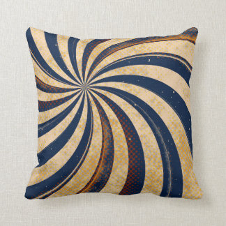 Brown Blue Swirl Abstract Throw Pillow Home Decor