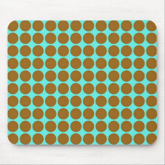 Brown & Blue Vintage Style Pattern Mouse Pad
