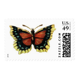 Brown-Blue-Yellow Butterfly Postage