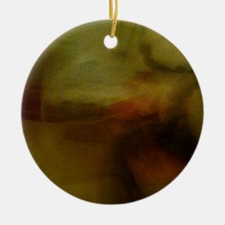 Brown Blur Background Ceramic Ornament