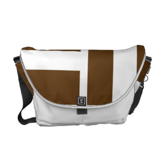 Brown Bold Multi Direction Stripes Pattern Courier Bag