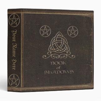 Brown Book of Shadows 3 Ring Binders