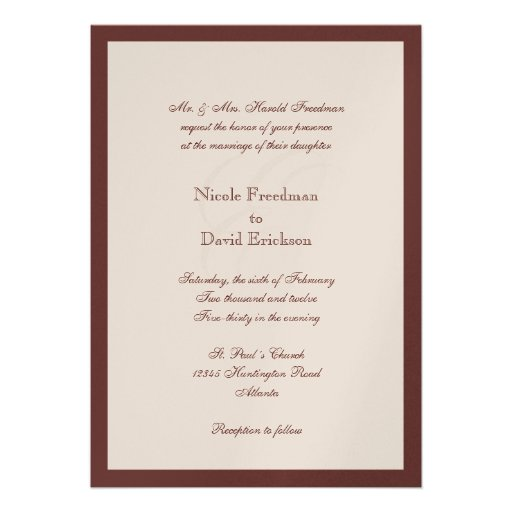 Special Invitation Letter for luxury invitations sample