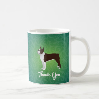 Brown Boston Terrier Thank You Note Design Coffee Mug