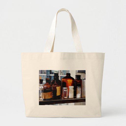 Brown Bottles Canvas Bag