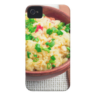 Brown bowl with a portion of cooked rice Case-Mate iPhone 4 case