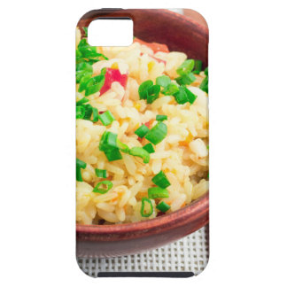 Brown bowl with a portion of cooked rice iPhone SE/5/5s case