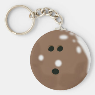 Brown Bowling Ball Keychain