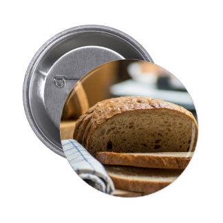 Brown bread pinback button