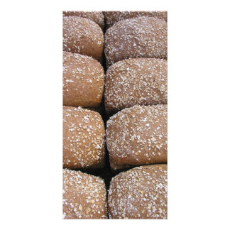 Brown bread rolls photo card template