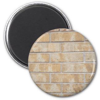 Brown Brick 2 Inch Round Magnet