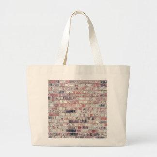 Brown Brick Background Red Bricks Grunge Wall Large Tote Bag