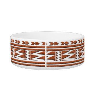 Brown Brick Geometric Aztec Tribal Print Pattern Bowl