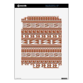Brown Brick Geometric Aztec Tribal Print Pattern Decal For The iPad 2