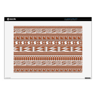 Brown Brick Geometric Aztec Tribal Print Pattern Decals For Laptops