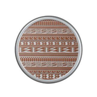 Brown Brick Geometric Aztec Tribal Print Pattern Speaker