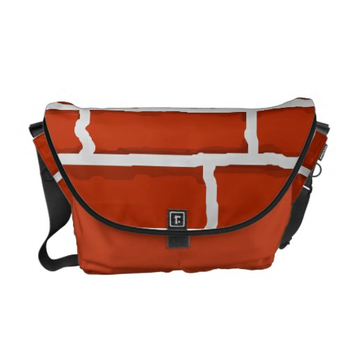 Brown brick wall background courier bags