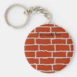 Brown brick wall background keychains