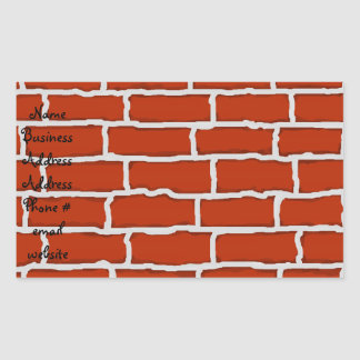 Brown brick wall background rectangle stickers