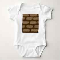 Brown Bricks Pattern Baby Bodysuit