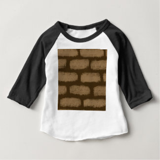 Brown Bricks Pattern Baby T-Shirt