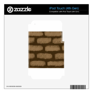 Brown Bricks Pattern Decals For iPod Touch 4G