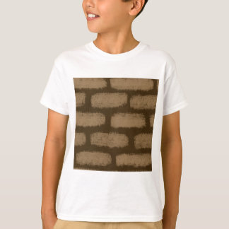 Brown Bricks Pattern T-Shirt