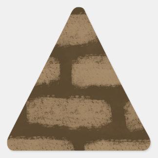 Brown Bricks Pattern Triangle Sticker