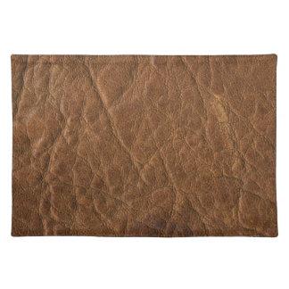 Brown bronceó el fondo de cuero de la textura mantel individual