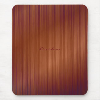 Brown Brushed Metal Mouse Pad